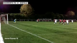 HIGHWORTH TOWN 1-1 BINFIELD - Uhlsport Hellenic Premier Division - 29th Oct 2013