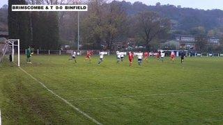 BRIMSCOMBE & THRUPP 0-3 BINFIELD - The FA Carlsberg Vase end Round - 16th Nov 2013
