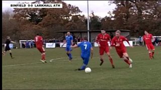 BINFIELD 0-1 LARKHALL ATHLETIC - the FA Carlsberg Vase R3 - 7th Dec 2014