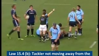 Tackler not rolling away