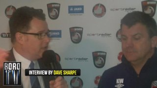 BoroTV - interview with Kevin Wilson after the Solihull game (2nd Jan 2016)