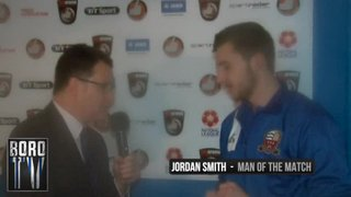BoroTV - interview with Jordan Smith after the Solihull game (2nd Jan 2016)