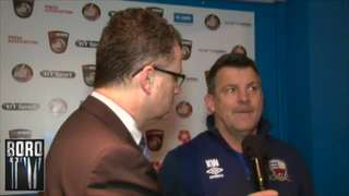 BoroTV - interview with Kevin Wilson after the Curzon match (23rd Jan 2016)