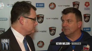 BoroTV - interview with Kevin Wilson after the Harrogate Draw (1st March 2016)