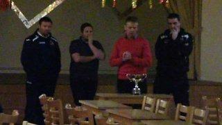 Gary Lloyd cup presentation at Llanelli