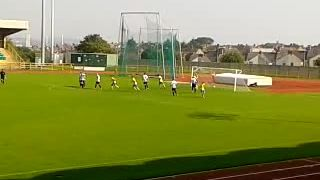 Ryan Evans free-kick against Risca United