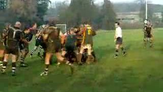 Brockworth 22 Jan 2011 - Whiteman break, Barnes held up