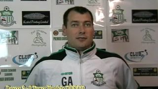 Interview with Gary Ansell following Rovers 2-0 win against Tower Hamlsets