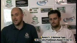 Dan Trenkel Post Match Interview After Rovers 5-0 win against Halstead Town
