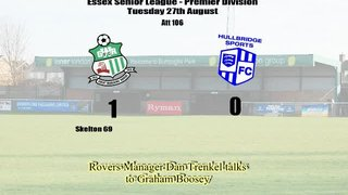 Post Match Interview With Dan Trenkel After Rovers 1-0 Win Over Hullbridge Sports
