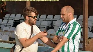 31-08-13 FA Cup Brentwood 3-2 Rovers, Trenkel post match interview