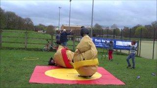 DSHC Pre Easter Easter Tournament 2014 - Sumo Bout - Joseph Neal vs Craig Smith