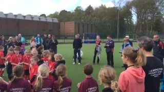 Under 8s receive their Warwickshire champions' medals
