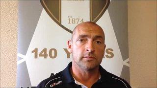 26-9-2015 Grantham Town v Matlock Town - Grantham Town manager Adam Stevens
