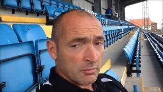 11-10-2015 - Whitby Town v Grantham Town - Grantham Town Manager Adam Stevens