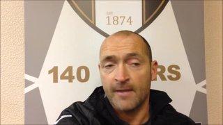 14-11-2015 Grantham Town v Mickleover Sports - Grantham Town manager Adam Stevens