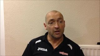 28-11-2015 Grantham Town v Salford City - Grantham Town manager Adam Stevens