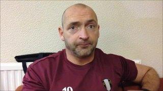 12-12-2015 Grantham Town v Halesowen Town - Grantham Town Manager Adam Stevens