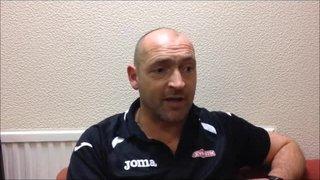 20-12-2016 Grantham Town v Nantwich Town - Grantham Town manager Adam Stevens