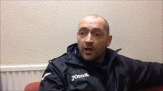 28-12-2015 - Grantham Town v Stamford - Grantham Town manager Adam Stevens