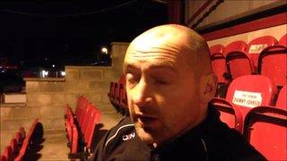 23-1-2016 - Ashton United v Grantham Town - Grantham Town manager Adam Stevens