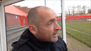 5-3-16 Workington AFC V Grantham Town - Grantham Town Manager Adam Stevens