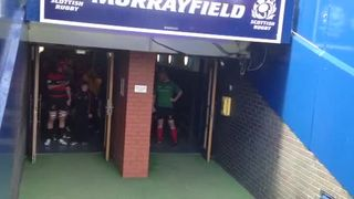 Grangemouth Stags Walk Out at Murrayfield in RBS National Bowl Final 20 April 2013