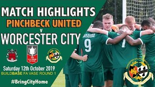 Pinchbeck United 0 Worcester City 3 #FAVASE 1st Round
