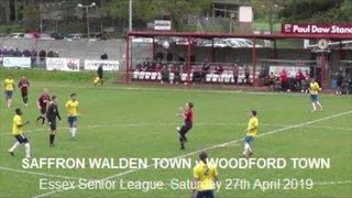 Saffron Walden Town v Woodford Town. Season 2018-19