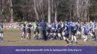 Aberdeen Wanderers U14/15s v Shetland U14/15s - 25th March 2017