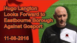Hugo Langton Looks Forward to Eastbourne Borough Against Gosport