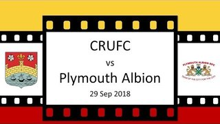 CRUFC v Plymouth Albion 29 Sep 18