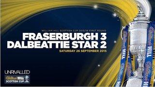 Fraserburgh 3 Dalbeattie Star 2 | William Hill Scottish Cup 2015/16 - First Round