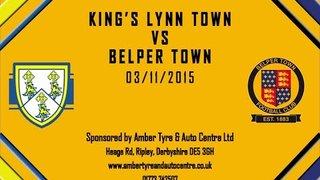 King's Lynn Town FC 5 - 1 Belper Town 3rd November 2015 Highlights