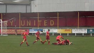 Josh Wynne's 89th minute goal for U18s against Newcastle Town