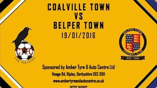Coalville Town 3 - 2 Belper Town 23rd January 2016 Highlights