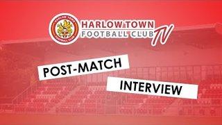 Harlow Town FC vs Tonbridge Angels post match interview - 17/11/18