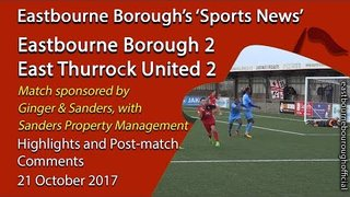 'Sports News': Eastbourne Borough 2 v East Thurrock 2