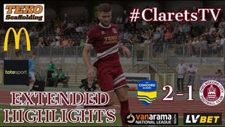 EXTENDED HIGHLIGHTS: Concord Rangers 2-1 Chelmsford City - 06/08/2019