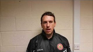 Harlow Town FC vs Dorking Wanderers post match interview - 10/10/17