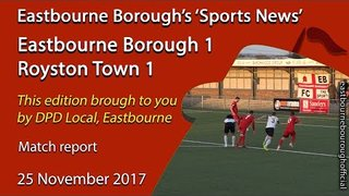 'Sports News': Eastbourne Borough 1 v 1 Royston Town FA Trophy Highlights