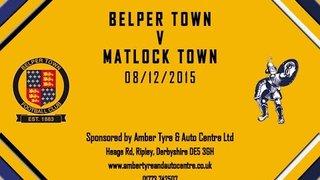Belper Town 4 - 2 Matlock Town 8th December 2015 Highlights