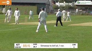 Arif Ali 62 Not out Bat carry vs East London