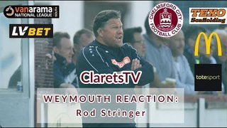 REACTION: Rod Stringer - Post Weymouth (A) - 10/08/2019