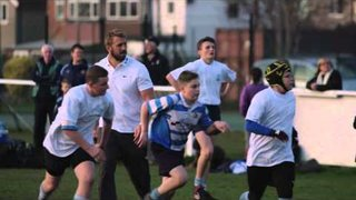 England Rugby captain surprises childhood club