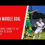 Josh Wardle scores against Runcorn Linnets