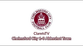 Pre-season Highlights: Chelmsford City 1-0 Aldershot Town