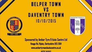 Belper Town 2 - 0 Daventry Town 10th October 2015 Highlights