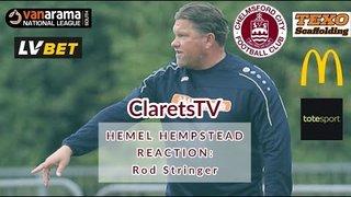 REACTION: Rod Stringer - Post Hemel Hempstead Town (A) - 07/09/2019