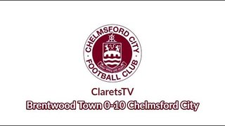 Pre-season Highlights: Brentwood Town 0-10 Chelmsford City